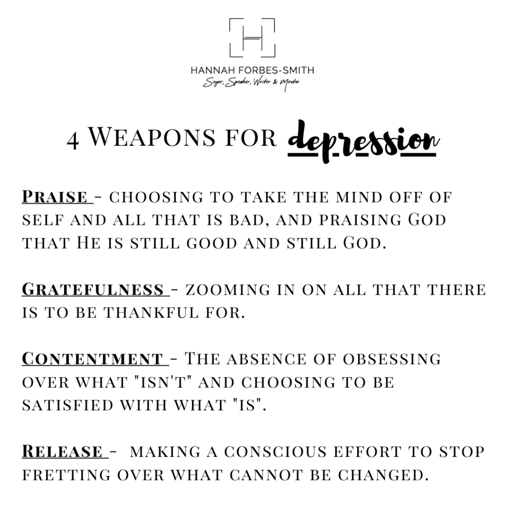 4 weapons for depression